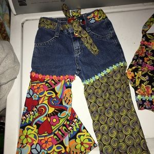 Boutique resell 2t hippie jeans purse and halter
